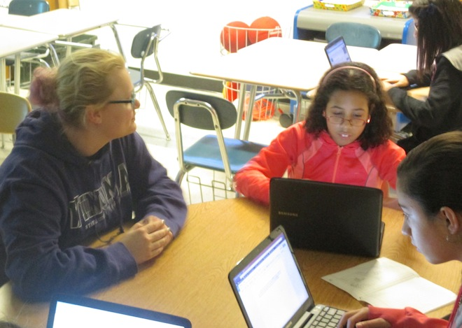 Students mentoring students