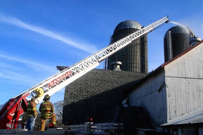 Silo fire caused by composting effect