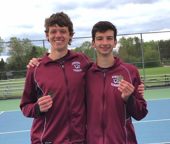 Central tennis pair qualify for state meet
