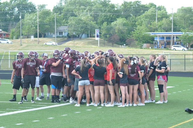 PHOTOS: Central Football, Cheer reverse roles in contact day