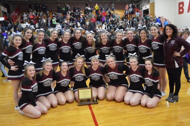 Central cheer wins another SLC title