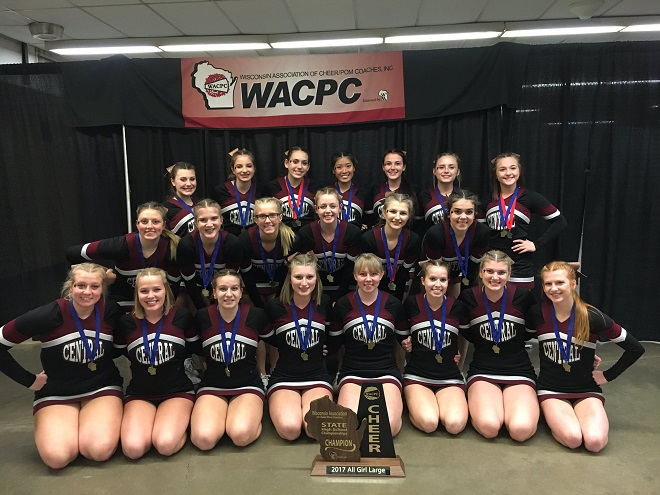 Three straight for Central Cheer