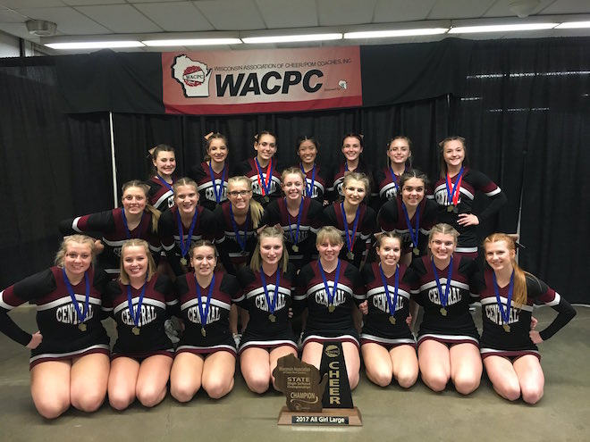 Three in a row for Westosha cheer