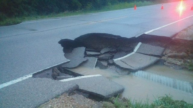 Officials: Some county roads impassable due to flooding