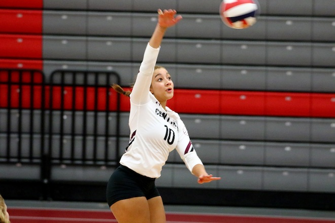 GIRLS VOLLEYBALL: Front row, setter, lead Central to victory