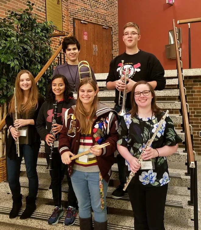 Central band students participate in honors festival