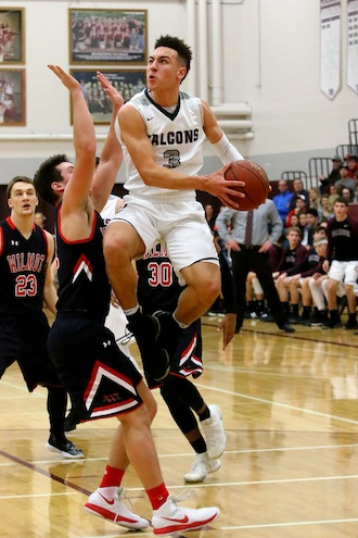 BOYS BASKETBALL: Falcons equalize Wilmot's perimeter threats