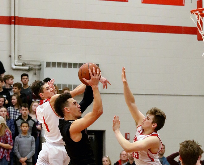 BOYS BASKETBALL: Broncos deny Falcons a conference title