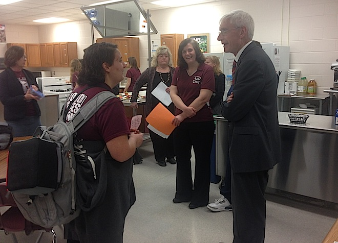 Evers visits Westosha Central