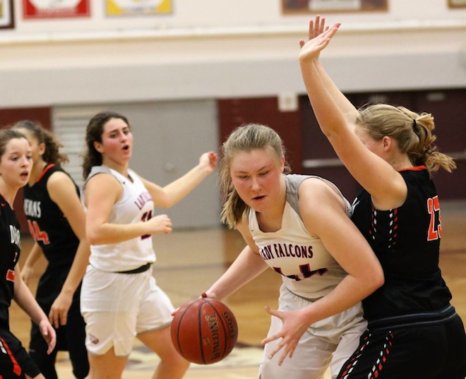 GIRLS BASKETBALL: Lady Falcons notch first conference win