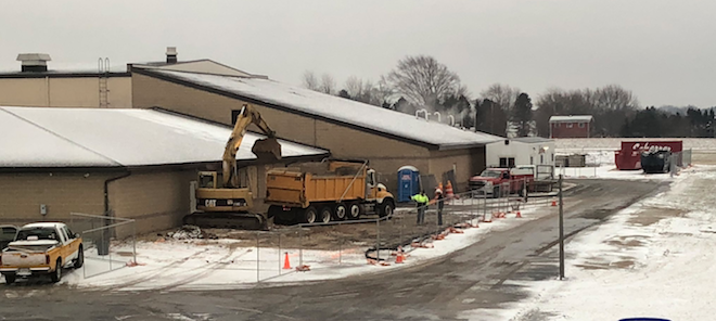 Wheatland School in early construction phase