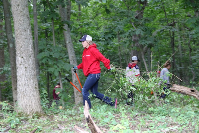 Wilmot Mountain employees help with cleanup efforts at Bristol Woods