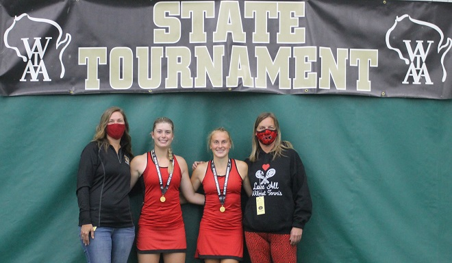 Wilmot duo claims WIAA state tennis title