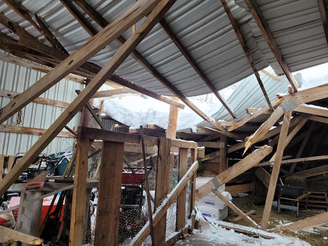 County sees double barrage of snowfall